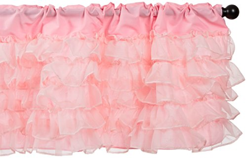 Baby Doll Layered Window Valance, Pink by Baby Doll