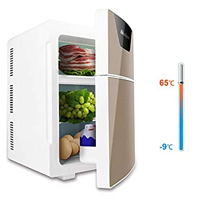 20L Compact Refrigerator Freezer,Ansten Portable Car Home Cooler Warmer Fridge with Double Door for Dorm, Office, RV, Garage, Apartment,Camper, Basement Use