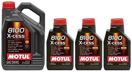 Motul 8100 X-cess 5W40 volledig synthetische motorolie, 8 liter
