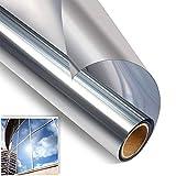 N/V - Lámina de espejo para ventana, autoadhesiva, aislamiento térmico, para proteger la privacidad, lámina adhesiva reflectante para ventanas del hogar y la oficina (60 x 400 cm)