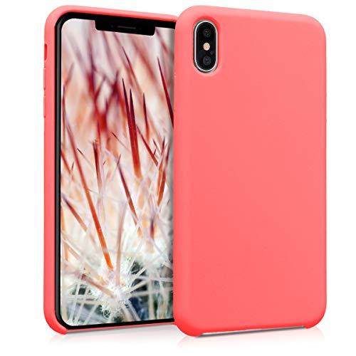 kwmobile Hülle kompatibel mit Apple iPhone XS Max - Hülle Handyhülle gummiert - Handy Hülle in Neon Koralle