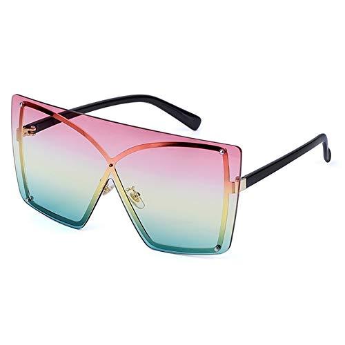 Sonnenbrille Herren Übergroße Gradient Cat Eye Sonnenbrille Frauen Mode Randlos Quadrat Metall Weiblich Männer Sonnenbrille 8