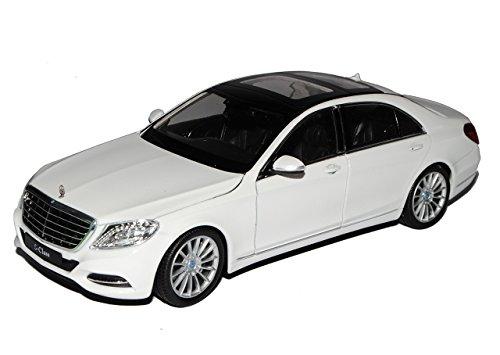 Welly Mercedes-Benz S-Klasse W222 Weiss Limousine Ab 2013 1/24 Modell Auto mit individiuellem Wunschkennzeichen