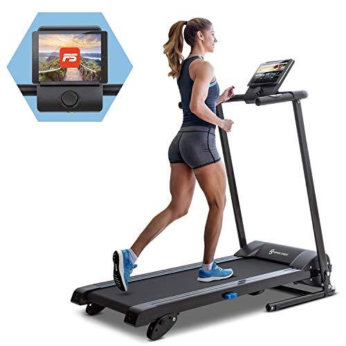 KLAR FIT Capital Sports Pacemaker F60 - Cinta para Correr, Máquina de Cardio, Ordenador de Entrenamiento, Soporte tabletas, Potencia 1 PS, Pulsómetro, Sistema autolubrificante, Bluetooth, Negro