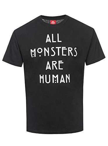 American Horror Story All Monsters are Human Homme T-Shirt Manches Courtes Noir S