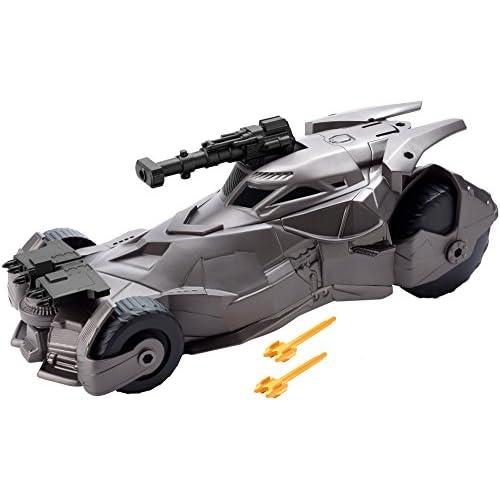 JUSTICE LEAGUE Batmobile con Cannone, Colore Nera, FGH57