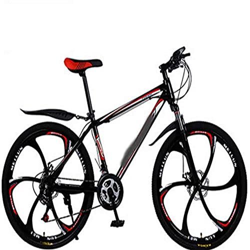 WXXMZY 26 Inch 21-30 Speed Mountain Bike   Male And Female Adult Bicycle Mountain Bike   Double Disc Brake Bicycle Mountain Bike (Color : D, Inches : 24 inches)