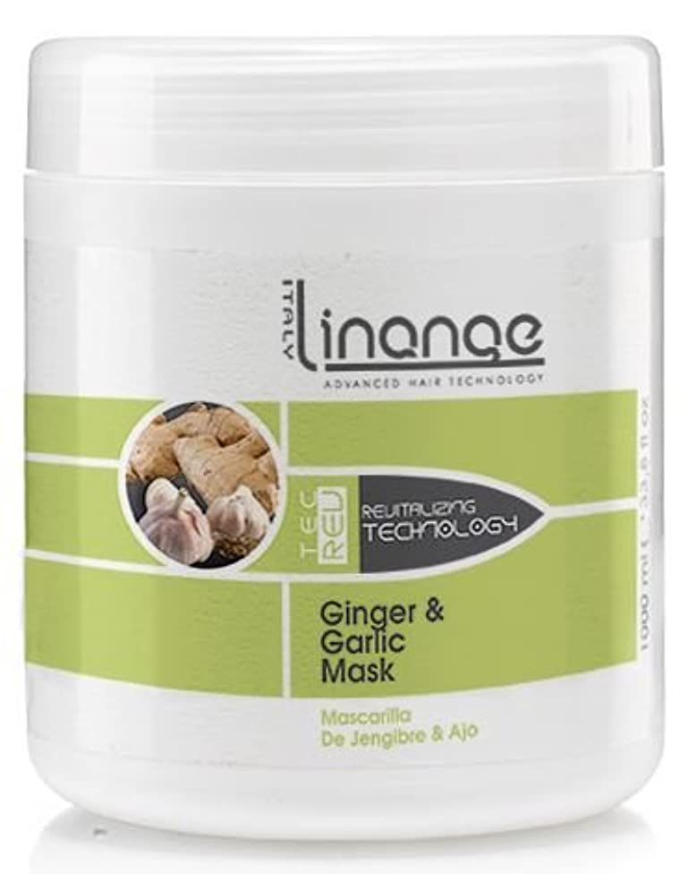 Linange Ginger and Garlic Mask 1000ml; Softening, Strengthening, Moisturizing, Nourishing, Hair Care Product; Hair Mask w/ Proteins for Men and Women – for Thin, Dry, Damaged, Curly Hair