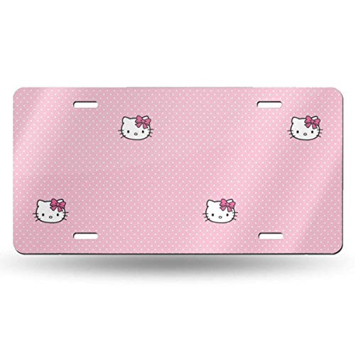 Suzanne Betty Aluminum License Plates - Little Hello Kitty License Plate Tag Car Accessories 12 X 6 Inches