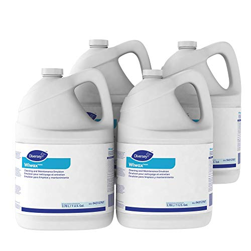 Diversey 94512767 Wiwax Cleaning & Maintenance Emulsion, Liquid, 1 Gallon Bottle (Case of 4)