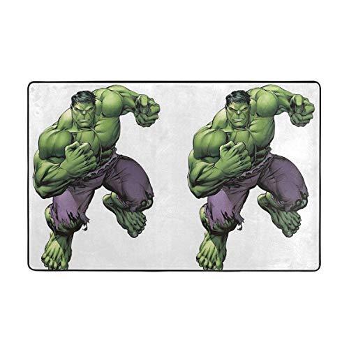 Alfombra antideslizante grande de dibujos animados Hulk alfombra de salón alfombra alfombra de piso felpudos 60 x 39 pulgadas
