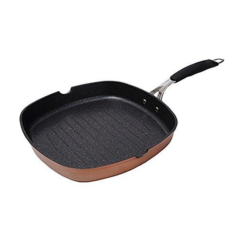 Bergner Just For Chefs Q2905 - Asador 28 x 4.5 cm, Aluminio Forjado Inducción Infinity, Cobre