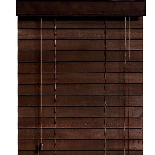 木製 ウッド ブラインド 【幅169cm×高さ76cm】 35mmスラット ダークブラウン/幅161~170cm×高さ31~100cm から選べる