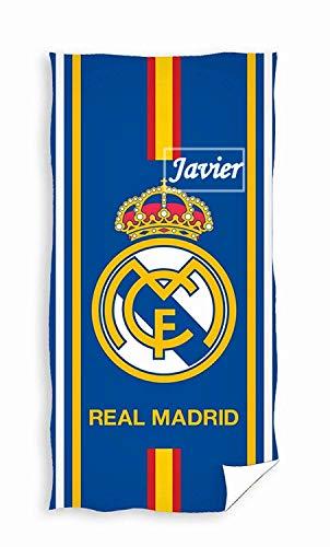 Real Madrid- Toalla De Baño y Playa Personalizada con nombre Bordado- 75 x 150 cm- Danielstore