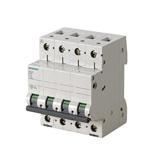 SIEMENS Ingenuity for life - Interruptor automático 230/400 V 6KA 4 POLOS, C, 16A