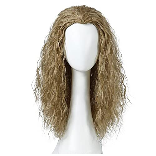 XIURAB Men's Anime Wig, Long Curly Hair, Suitable for Role Playing