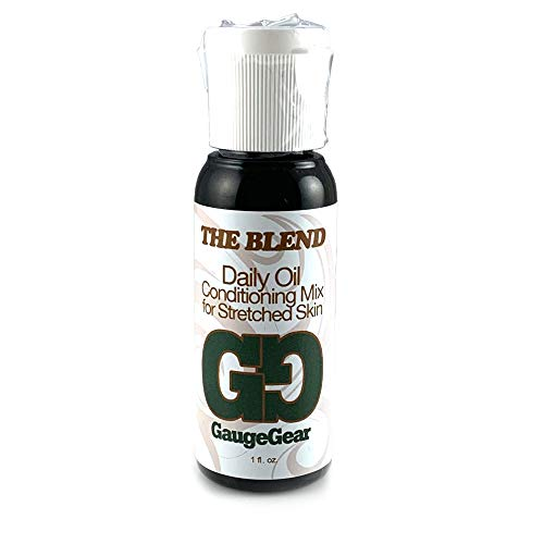 Gauge Gear The Blend - 1 oz | Daily Oil Conditioning Mix | One Ounce 100% All Natural Therapeutic Grade Essential and Carrier Oils | Piercing Aftercare w/Jojoba | Used for Plugs, Tapers, Expanders