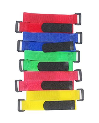 grapelet 2020,3cm verstellbarem Gurt Kabelbinder Organizer Klett mit Kunststoff Schnalle 200mm x 20mm