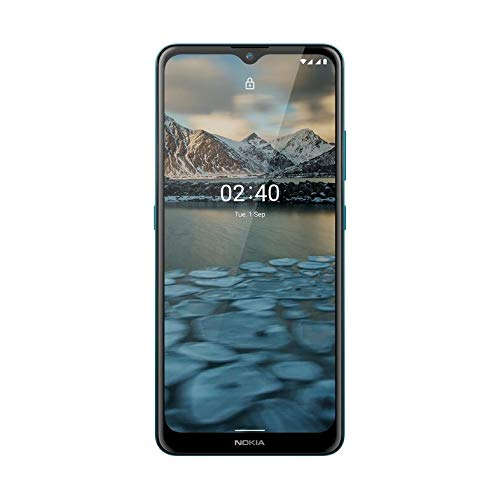 "Nokia 2.4 Smartphone 4G Dual Sim, Display 6.5"" HD+, 64GB, 3GB RAM, Dual Camera, Android 10, Batteria 4500mAh, Blue Fiordo [Italia]"
