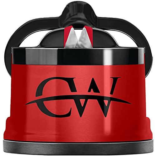Affilacoltelli manuale, sicuro, affila qualsiasi lama, utilizzabile per coltelli da pane, seghettati, in acciaio e da tasca, accessorio per la cucina