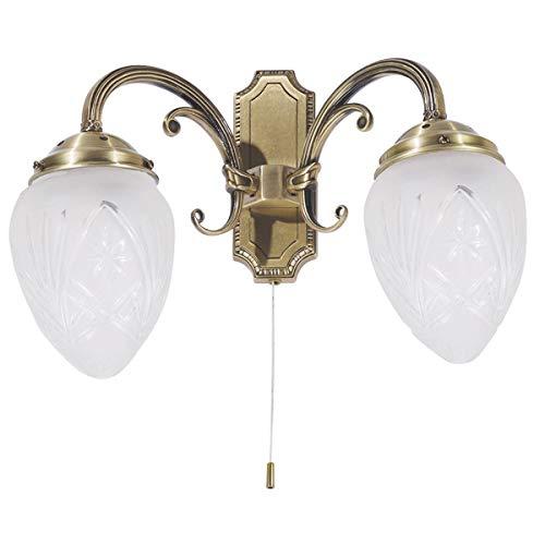 Applique Lampe Luminaire Murale Intérieur Style Art Nouveau 2 Lumières Bronze 1/1/798