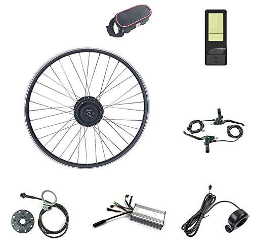 CRMY Kit de Conversión de Bicicleta Eléctrica Rueda de Motor Delantera 20/24/26/27,5/28/29...