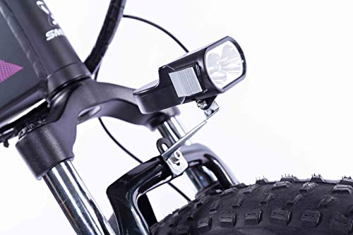 41mWJ5f+83L - XXCY 20 Zoll Fetter Reifen, 36V 500W Motor, faltbares Fahrrad, elektrisches Fahrrad, Mobile Lithiumbatterie Shimano 7-Gang hydraulische Scheibenbremse