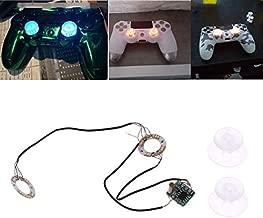 VizGiz Backlit Thumbstick Analog Thumb Stick Joystick Cap DIY Mod Set Button Led Light Up Clear Transparent Caps Thumbsticks for Sony PS4 Controller Playstation Dualshock PS 4