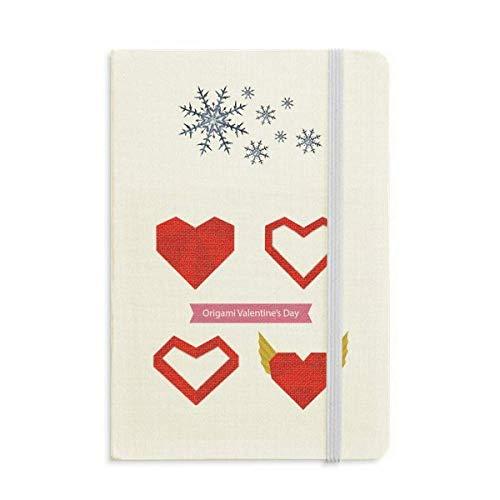 Cuaderno de Origami con forma de corazón de Navidad abstracto, color rojo