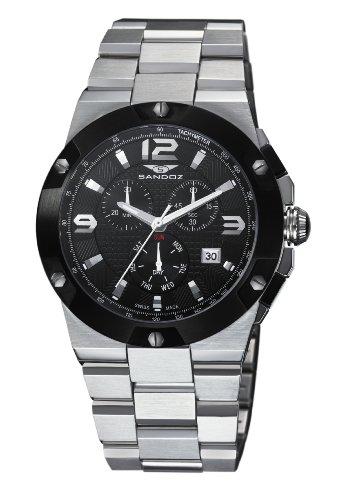 Sandoz 81285-55 - Reloj de Caballero de Cuarzo, Correa de Acero Inoxidable Color Plata