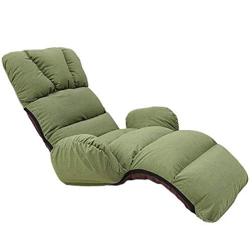 N/Z Living Equipment Folding Lazy Sofa Chair Canapé élégant Canapés-Lits Chaise Longue avec Oreiller Regarder la télévision Lecture Déjeuner Pause Voyage en Plein air (Couleur: Vert)