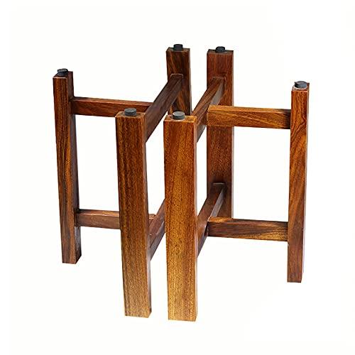 SWTOM Holztischbeine, Massivholzmöbelfüße, Ersatzschrankfüße, für Schminktisch, Computertisch, Esstisch