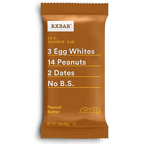 RXBAR, Peanut Butter, Protein Bar, 1.83 Ounce (Pack of 12), High Protein Snack, Gluten Free