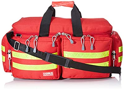 GIMA - Emergency Smart Bag, Red Colour, Polyester, Empty, Trauma, Rescue, Medical, First Aid, Nurse, Paramedic Multi Pocket Bag, 55x35x32 cm 27151 by GIMA