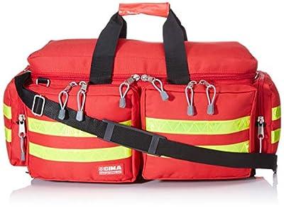 GIMA - Emergency Smart Bag, Red Colour, Polyester, Empty, Trauma, Rescue, Medical, First Aid, Nurse, Paramedic Multi Pocket Bag, 45x28x28 cm from Gima S.p.A.