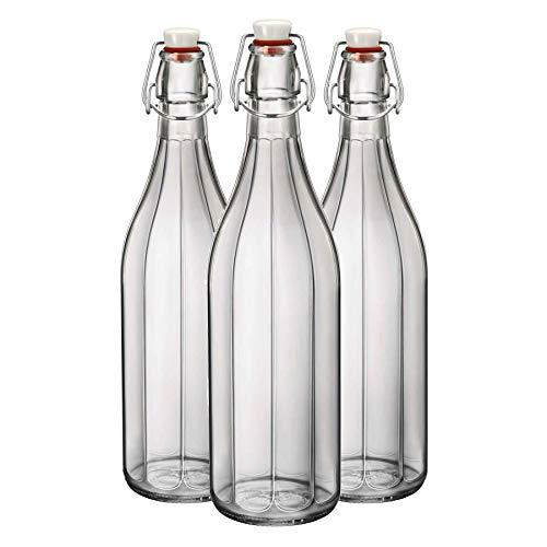 Bormioli Rocco Oxford Effacer vin de table au service des bouteilles d'eau - 1000 ml - Lot de 3