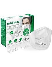 medisana FFP2 adembeschermingsmasker stofmasker ademmasker, RM 100, stofbeschermingsmasker mondbeschermingsmasker 10 stuks individueel verpakt in PE zak met clip - gecertificeerd CE2834 - EU 2016/425