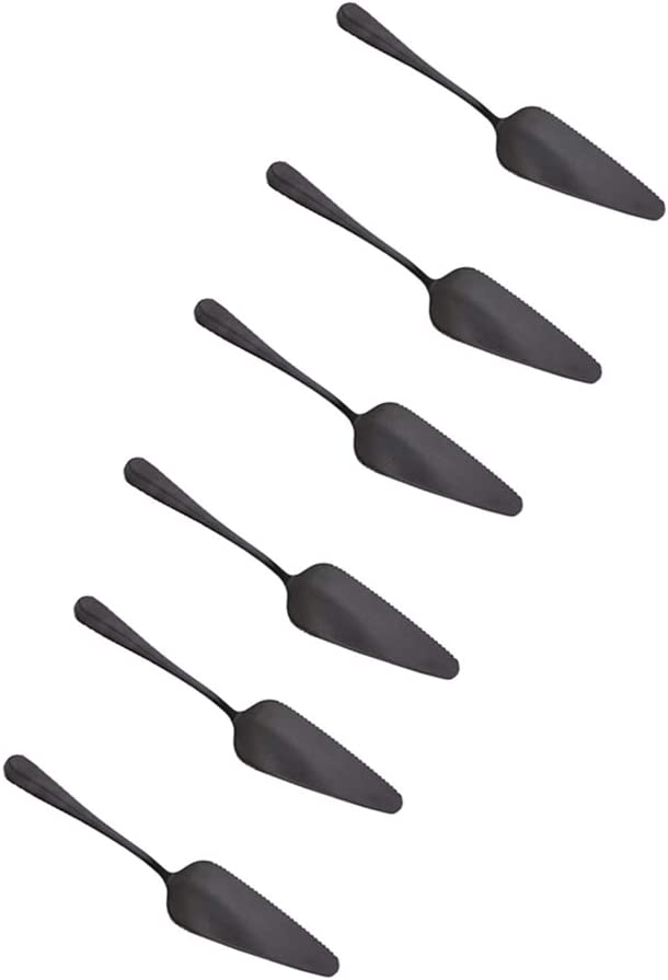 Stainless Steel Pie Cake Server Phoenix Mall 6pcs Mirror with Finished Alternative dealer black