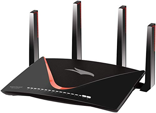 Netgear Nighthawk XR700 WLAN Pro Gaming Router (AD7200 60 GHz Quad-Stream, 1,7 GHz Quad Core, 7x GB + 1x 10 Gigabit LAN, Anti-Buffer-Bloat, QoS, Bandbreitenmanagement, Geo-Filter, MU-MIMO, Netduma)