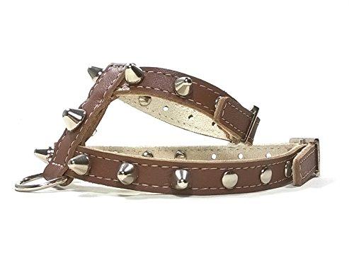 Superpipapo Handmade Braun Leder Hundegeschirr, Leine Optional, Ausgefallen und Individuell Geschirr Design für Mittelgroße Hunde, ML: Hals 32-37 cm, Brust 47-52 cm