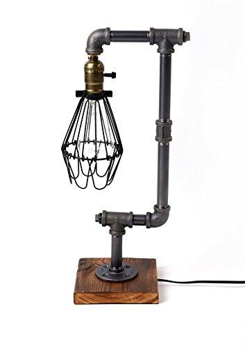 ADFD Vintage Industrial Style metallrör Bordslampa