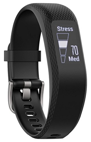 Garmin VivoSmart 3 - Monitor de actividad inteligente con sensor de frecuencia cardiaca en la muñeca y herramientas de fitness, Negro, S/M