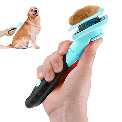Makerfire Cepillo para Perros o Gatos de Pelo Largo o Corto para Limpiar Mascotas Medianas Y Grandes-Azul