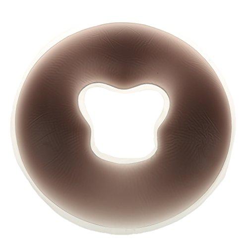 Generic Oreiller Coussin de Visage Silicone pour Table de Massage Salon Spa - Noir, 26.5cm de Diamètre