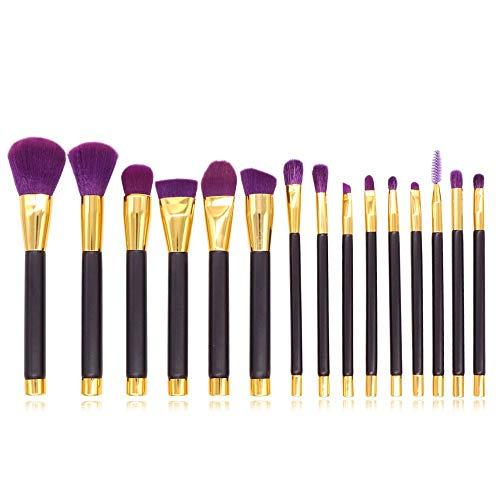 Ensemble de pinceaux de maquillage Pinceaux de maquillage 15 pièces prime synthétique fondation pinceau poudre mélange blush correcteur yeux crème liquide en poudre cosmétique brosses kit pour le fond