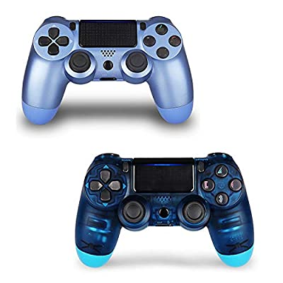 2 Pack Controller for PS4,Wireless Controller for Playstation 4 with Dual Vibration Game Joystick