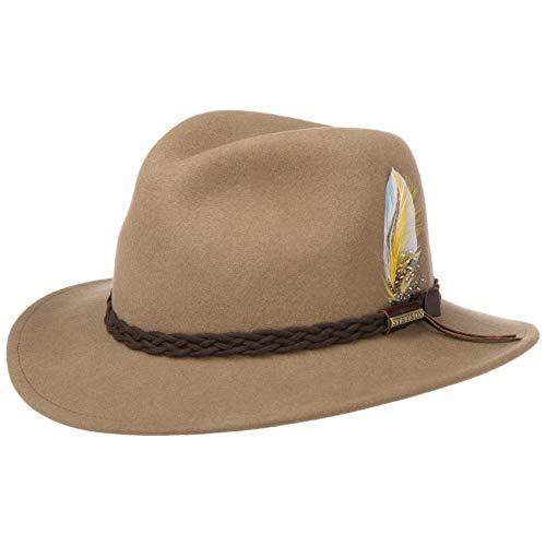 Stetson Chapeau Newark Outdoor VitaFelt de Feutre Chapeaux (L (58-59 cm) - Beige)