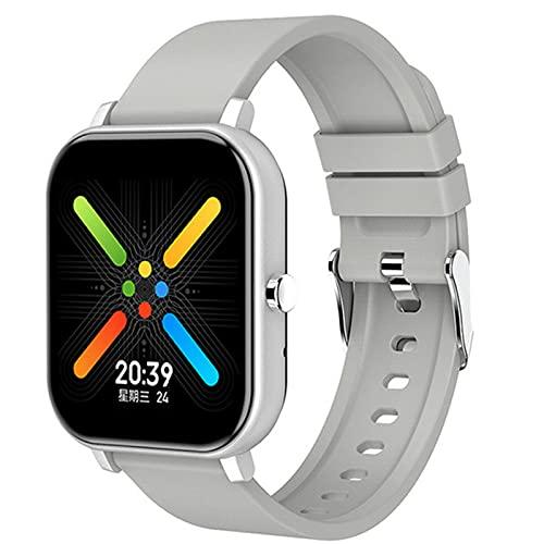 ZGLXZ Smartwatch Multifuncional, Ritmo Cardíaco Bluetooth Monitoreo De La Presión Arterial Ejercicio Reloj Despertador Cronómetro Reloj Inteligente Reloj,B