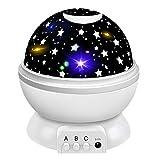 Tesoky Sternenhimmel Projektor Lampe, Led Nachtlicht Kinder Geschenke Jungen 2-12 Jahre, Baby Spielzeug Mädchen 6 7 8 9 Jahr nachttischlampe, Geburtstag Geschenke, Kinderspielzeug (Weiß)