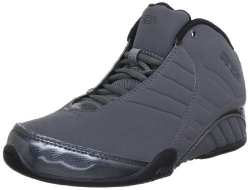 AND1 Men's Rocket Mid Basketball Shoes (10, Asphalt/Black)